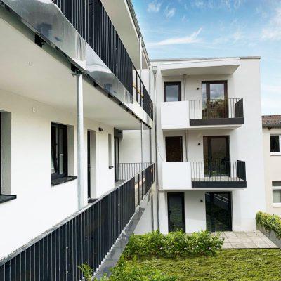 Blick auf die Wohnung 2, 9 und 16